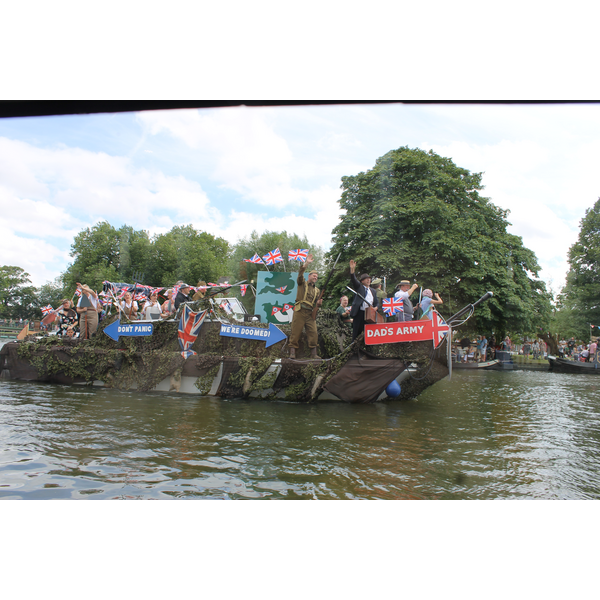 Dad's Army Boat on Parade at the Bedford River Festival