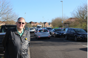 Cllr Tim Hill Outside Elstow Primary School