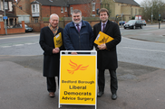 Cllr David Sawyer, Mayor Dave Hodgson and Cllr Henry Vann at a Local Surgery