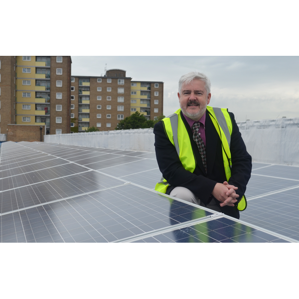 Cllr Charles Royden Solar Panels Allhallows bus station