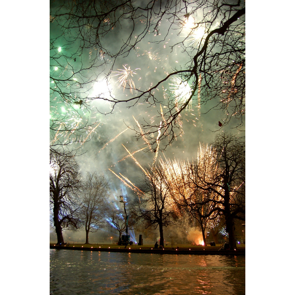 Fireworks at Bedford's Big Christmas Lights Switch-On