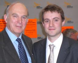Henry Vann and Dr Vince Cable MP
