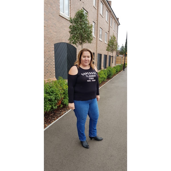 Councillor Sarah Gallagher in Shortstown