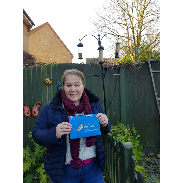 Councillor Sarah Gallagher with the RSPB Birdwatch pack ()