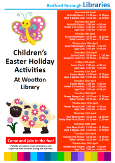 Wootton Library Easter 2019