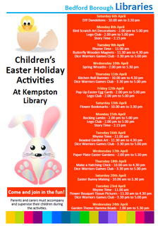Kempston Library Easter 2019