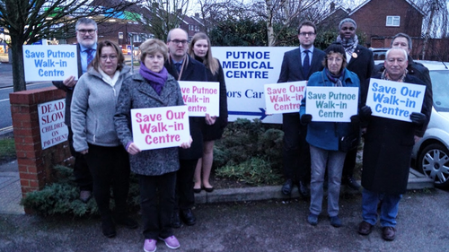 Liberal Democrats Campaigning to Save Putnoe Walk-In Centre from Closure
