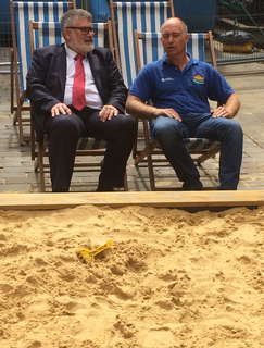 Mayor Dave Hodgson at Bedford's Beach