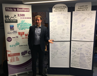 Councillor Henry Vann at Bedford's Town Centre Consultation