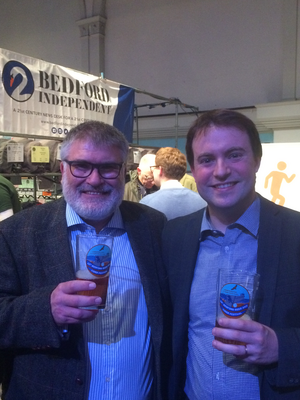 Mayor Dave Hodgson and Cllr Henry Vann at Bedford Beer Festival