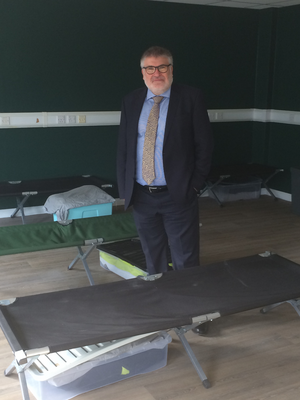 Mayor Dave Hodgson visits the 'Somewhere Safe to Stay' Hub