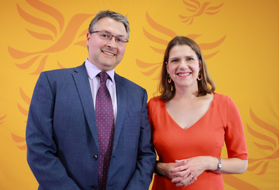 Daniel Norton and Jo Swinson
