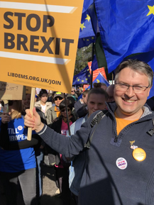 Daniel Norton Marching to Stop Brexit