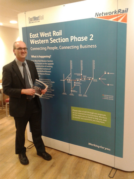 Councillor Michael Headley has led on East West Rail