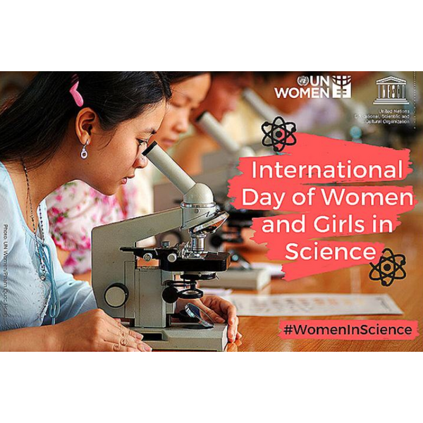 International Day of Women and Girls in Science Graphic