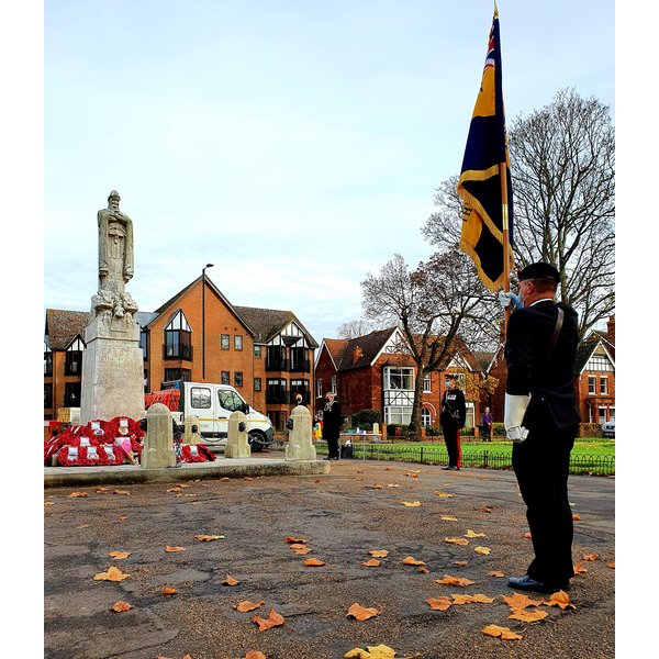 Armistice Day Commemoration at Bedford War Memorial