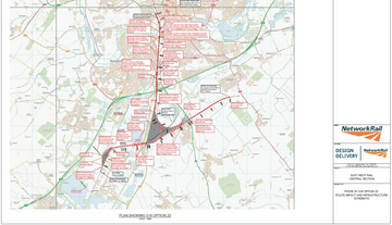 Network Rail 2019 Map Showing East West Rail Central Section Southern Route Option Via Wixams